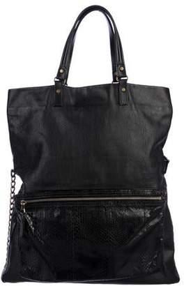 Lanvin Leather Fold-Over Satchel