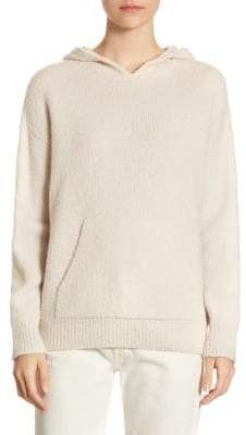 Vince Rib-Knit Pullover Hoodie