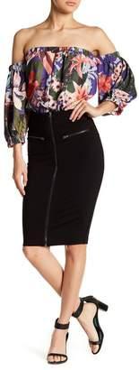 Romeo & Juliet Couture Zip Accent Skirt