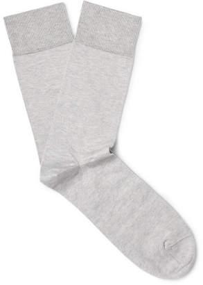 John Smedley Eros Sea Island Cotton-Blend Socks