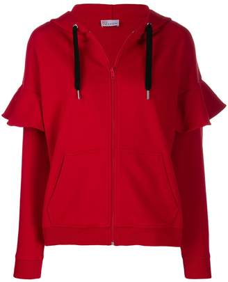 RED Valentino Love you zip-up hoodie