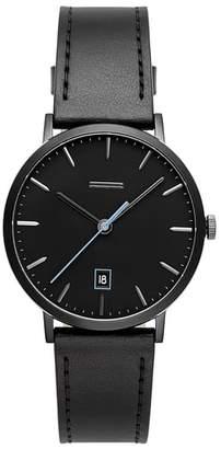 Uri Minkoff Norrebro Leather Watch, 40mm