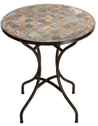 Fleur De Lis Living Hillesden Mosaic Round Indoor/Outdoor Metal Bistro Table