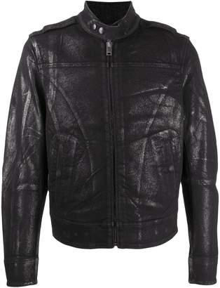 Diesel metallized biker jacket