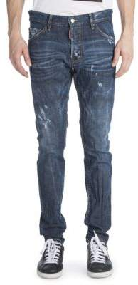 Viktor & Rolf Cool Guy Coated Resin Distressed Jeans