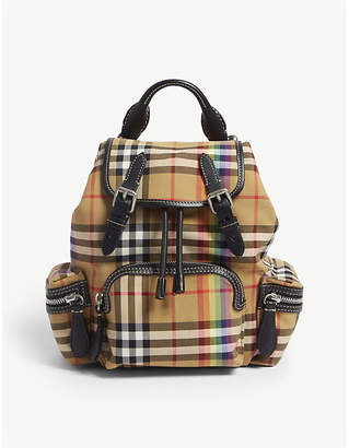 Burberry Small vintage check rainbow rucksack