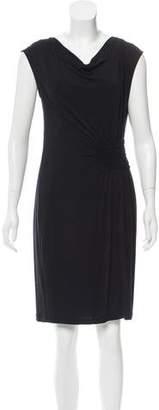 Allude Sleeveless Knee-Length Dress