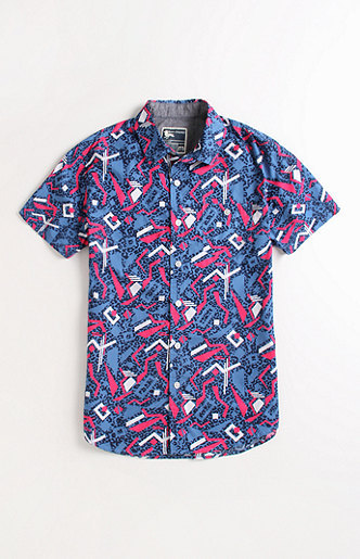 Modern Amusement Tardy Bell Short Sleeve Woven Shirt