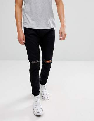 Esprit Skinny fit Jeans in Black With Distressed