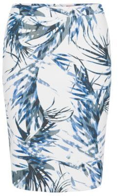 Hugo Boss Ranine Tropical-Print Pencil Skirt 4 Patterned $375 thestylecure.com
