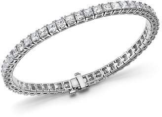 Bloomingdale's Princess-Cut Diamond Tennis Bracelet in 14K White Gold, 10.20 ct. t.w. - 100% Exclusive