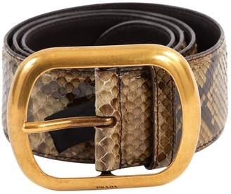 Prada Grey Python Belts