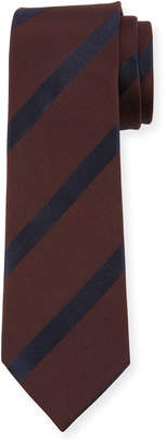 Dolce & Gabbana Striped Silk Tie, Burgundy