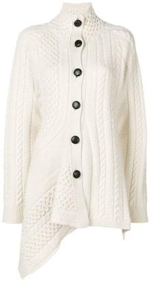 Stella McCartney asymmetric turtleneck cardigan