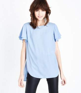81056aed0b636 New Look Pale Blue Tiered Sleeve Step Hem Top