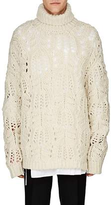 Dries Van Noten Men's Oversized Wool Turtleneck Sweater