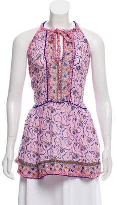 Poupette St Barth Floral Sleeveless Tunic w/ Tags