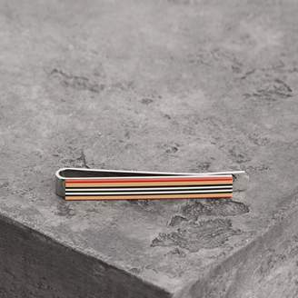 Burberry Heritage Stripe Bronze Tie Bar