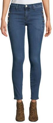J Brand Zion Mid-Rise Skinny W/ Button Pockets