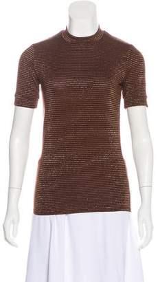 Reformation Metallic Short Sleeve Top