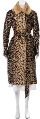 J. Mendel Mink Fur-Trimmed Long Coat