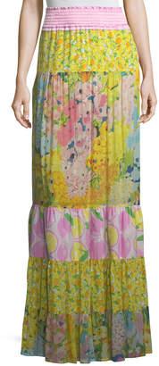 Moschino Patchwork Maxi Skirt