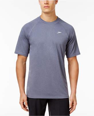Speedo Men's Crew-Neck Heathered Swim Shirt