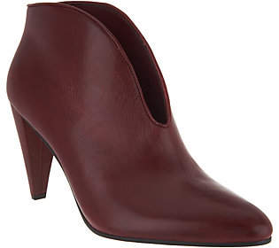 Vince Camuto Leather V-Front Booties - Eckanna