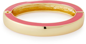 Fragments Enamel Hinged Bangle Bracelet, Pink $35 thestylecure.com