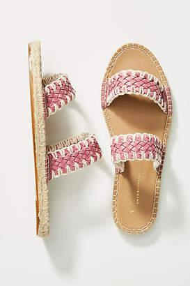 Anthropologie Regina Woven Slide Sandals