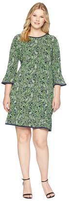 MICHAEL Michael Kors Size Paisley Flounce Dress Women's Dress