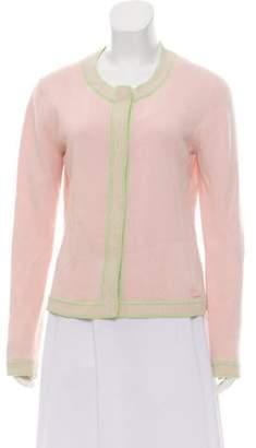 Chanel Scoop Neck Cashmere Cardigan Pink Scoop Neck Cashmere Cardigan
