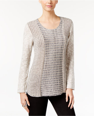 Style & Co Marled Colorblocked Sweater, Only at Macy's $54.50 thestylecure.com