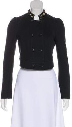 Rebecca Taylor Double-Breasted Cropped Jacket