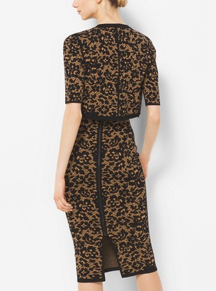 Michael Kors Floral Stretch-Viscose Shrug