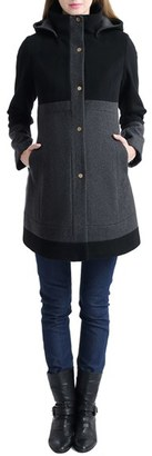 Women's Kimi And Kai 'Tessa' Colorblock Maternity Coat $228 thestylecure.com