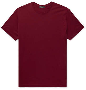 Loro Piana Slim-Fit Silk and Cotton-Blend Jersey T-Shirt - Men - Red