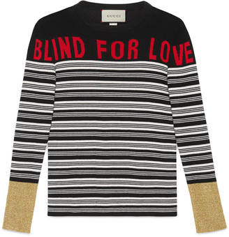 """Blind for Love"" striped knit top $1,200 thestylecure.com"