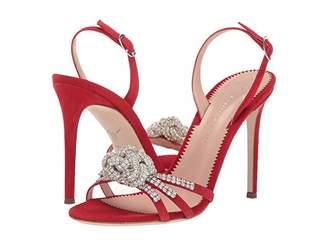Giuseppe Zanotti Blossom Rhinestone Slingback Heel Sandal