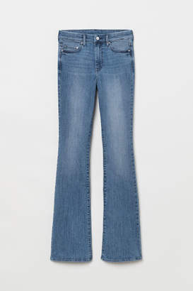 H&M Mini Flare High Jeans - Blue