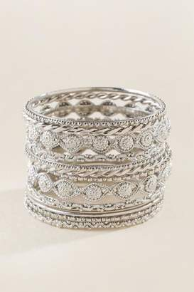 francesca's Candice Multi Bangle Set - Silver