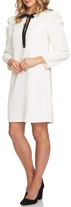 Cynthia Steffe CeCe by Puff Sleeve Tie Neck Dress