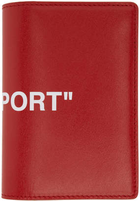 Off-White Off White Red Quote Passport Holder