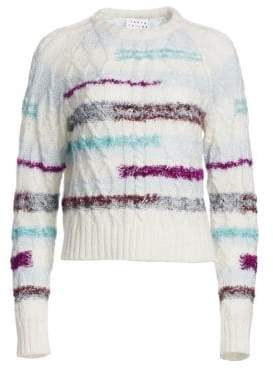Tanya Taylor Cable Knit Wool-Blend Sweater