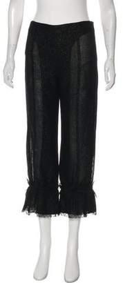Rochas High-Rise Wide-Leg Pants