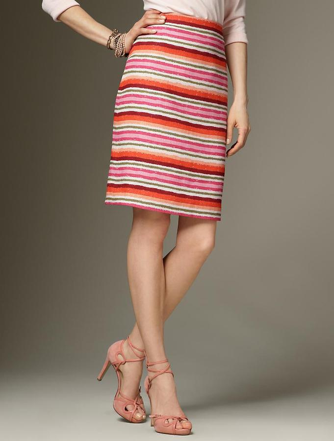 Trail stripe pencil skirt