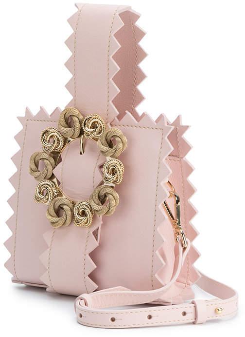 Jacquemus Pink Le Sac Gitan leather clutch bag