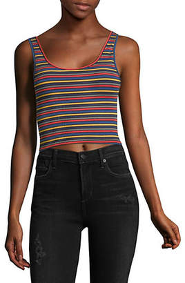 Topshop Striped Cropped Tank Top