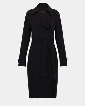 Theory Crepe Belted Trench Coat