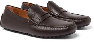 HUGO BOSS Full-grain Leather Driving Shoes - Dark brown